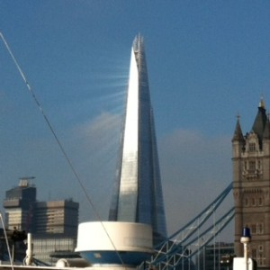 shard in morning