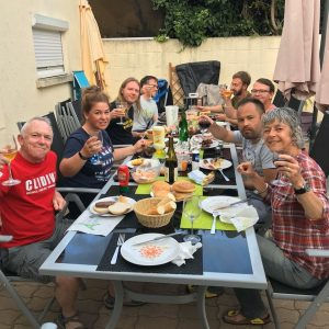 Clidivers enjoying a barbecue title=